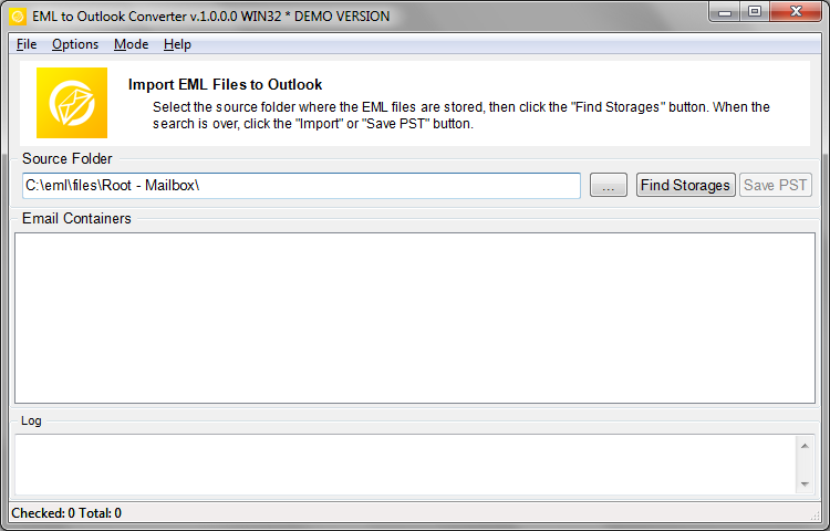 Run the EML to Outlook Converter tool